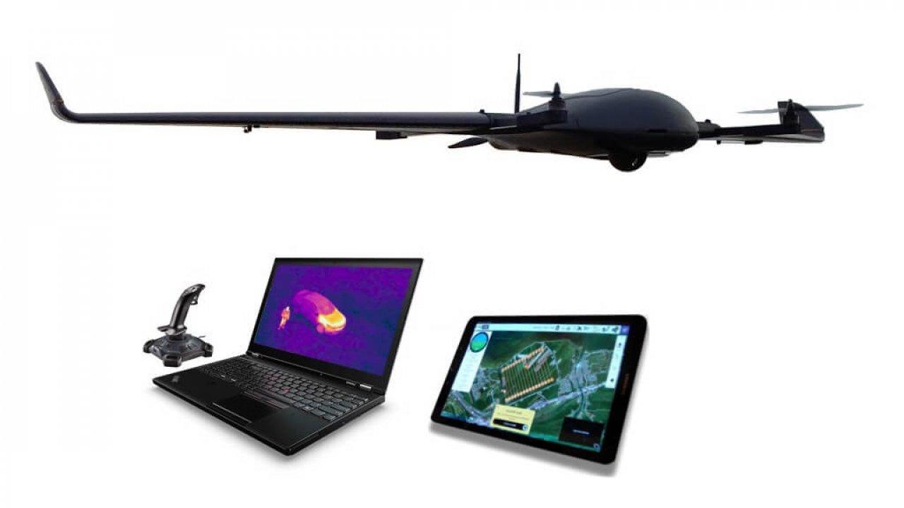 DeltaQuad - VTOL Surveillance Drone / UAV for long range EO/IR